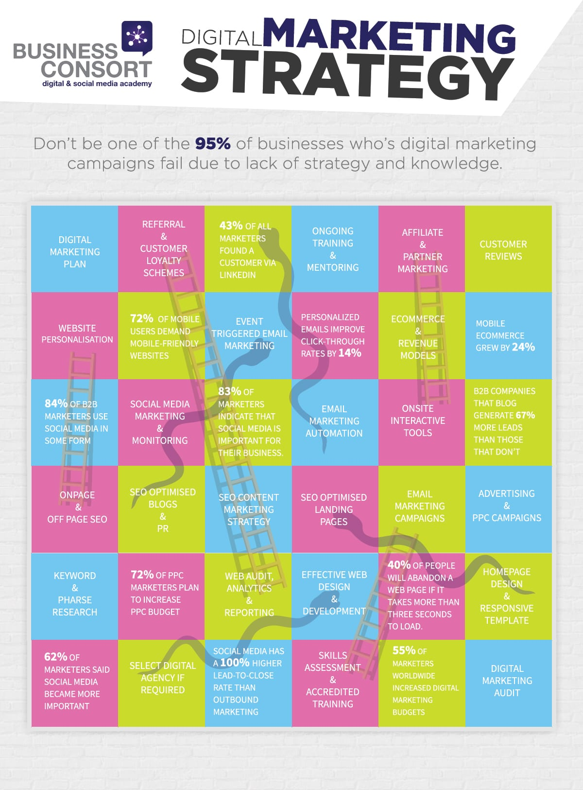 Digital Marketing Strategy Infographic - Business Consort
