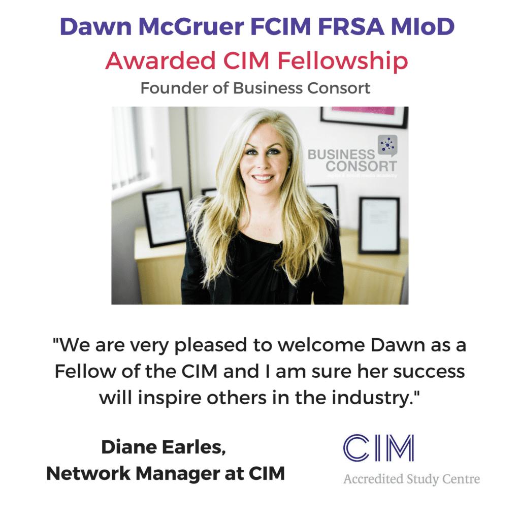 Dawn McGruer Awarded CIM Fellowship